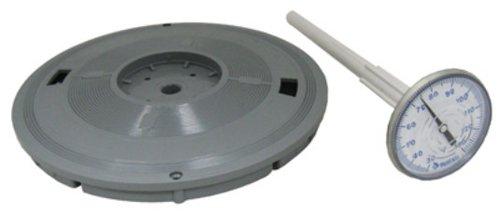 Pentair L4G 9–3/16Zoll grau rund Deckel Ersatz Pool und Spa Skimmer mit Thermometer