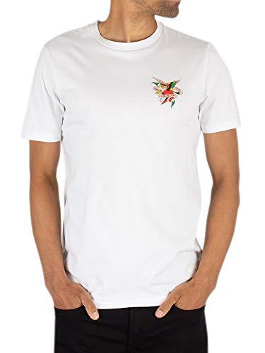 Ed Hardy Herren Bis zum Tod T-Shirt, Weiß, XL - T-shirt Hardy Ed