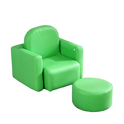 ASMZ DLDL Kinder-Sofa-Sitz einzigen Mini-Sofa-Bank (Farbe : Green)