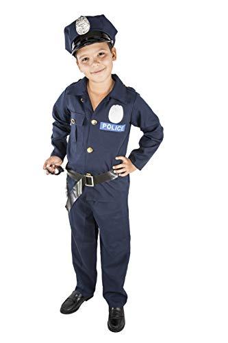 Kakao Kostüm - Costumizate! Polizei-Kostüm Verschiedene Größen für Kinder Kostümpartys oder Karneval