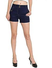 Rider Republic Blue Denim Highwaist Shorts 305180
