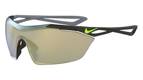 Nike EV0913–370Vaporwing Elite R Sunglasses (Frame Speed Tinta con UML Gold Flash Lens), Cargo Khaki/Volt
