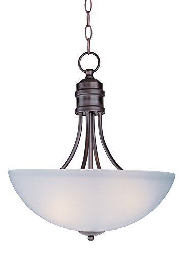 Maxim Lighting 10044FTOI Three Light Frosted Glass Up Pendant, Oil Rubbed Bronze by Maxim Lighting (Lighting Bronze-beleuchtung Maxim)
