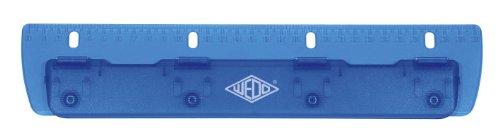 Wedo 678403 Vierfachlocher Taschenlocher (aus Kunststoff zum Abheften, inklusive 30 cm skala) blau