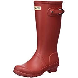Hunter Original Kids Junior Military Red Rubber 33 EU