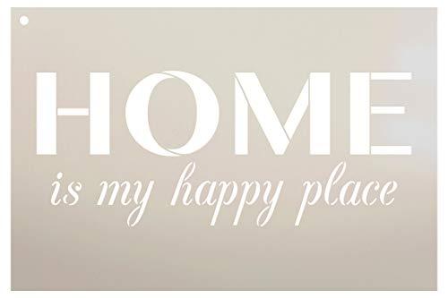 Home is my happy Place Schablone durch studior12| wiederverwendbar Mylar | Vorlage, zu malen Holz Schilder-Veranda-Paletten-New Home-DIY Home Welcome Decor, Größe wählen 12