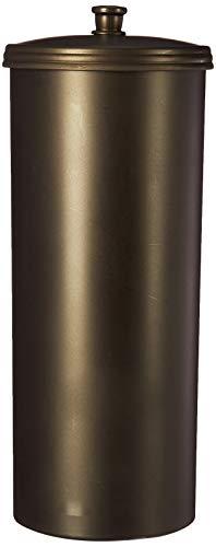 iDesign Kent Ersatzrollenhalter mit Deckel, freistehender und kompakter Toilettenpapierhalter für Ersatzrollen aus Kunststoff, bronzefarben -