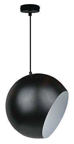 Sampa Helios 553033N Globe Suspension, Métal/Métal, Noir et Blanc,