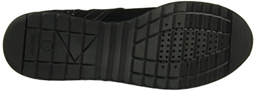 Geox D Deynna D Sneakers Da Donna In Pelle Nero (nero)