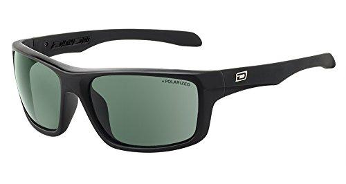 Dirty Dog Achse schwarze Sonnenbrille - Grün Polarisiert
