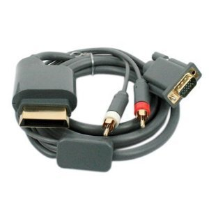 Konnect - New Xbox 360 VGA Component Audio Cable & 2RCA & 1 Year Warranty