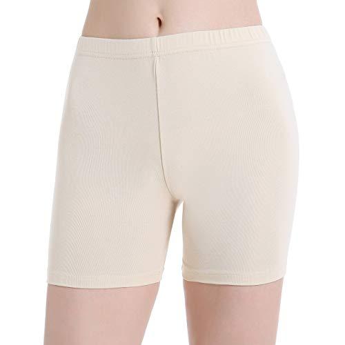 Ferrieswheel Story Damen Schwarze Kurz Hose Unter Rock Kurze Leggings Sommer Hot Shorts Workout Gym (Petite Tunika Elasthan)