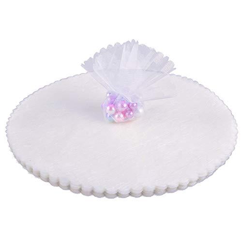 Gudotra 100pz velo di fata organza bianchi tondo tulle portaconfetti organza veletti per matrimonio nascita bomboniere laurea tulle confetti