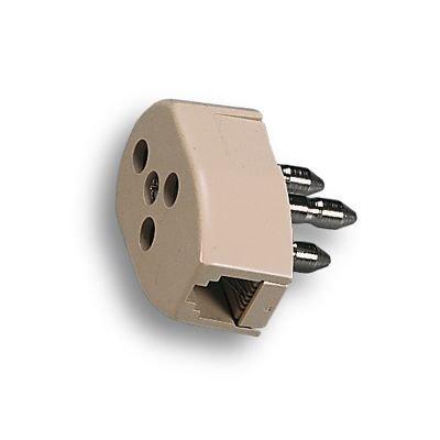 FANTON SPINA/PRESA 22180 TELEFONICA Spina/presa tripolare doppia con presa Plug 6/2