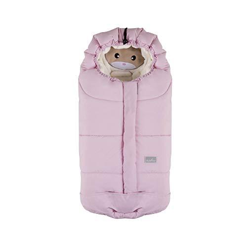 Nuvita 9205 Ovetto Cuccioli - Sacco Termico Universale Per Tutti i Tipi di Ovetto, Navicelle e Seggiolini Auto. Ideale per neonati, bimbi e bambini (Soft Blue Cat - Beige)
