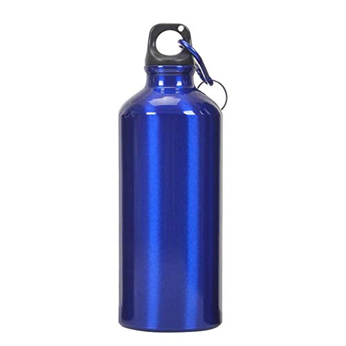 Demiawaking Trinkflasche Sportflasche aus Aluminium Thermische Wasserflasche für Radfahren Sport Aria Aperta, blau, 400ML