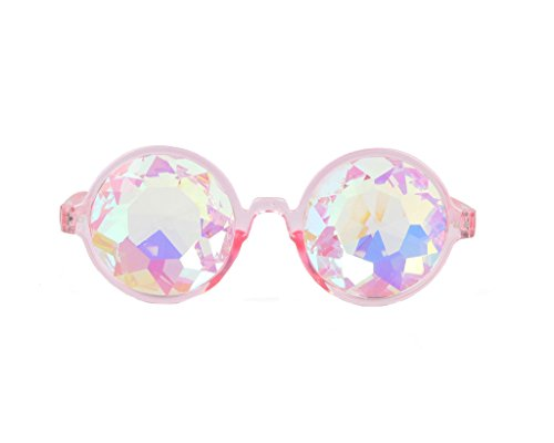 Price comparison product image FLORATA Kaleidoscope Firework Diffraction Prism Glasses Rainbow Prism Refraction Sunglasses Goggles