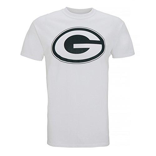 American Sports Merch Herren T-Shirt mit Green Bay Packers Logo, kurzärmlig Weiß