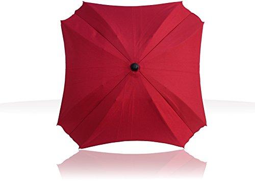 Sonnenschirm für Kinderwagen, mit flexiblem Befestigungsarm, Sonnenschirm mit UV-Schutz, Durchmesser 70 cm, (Claret)