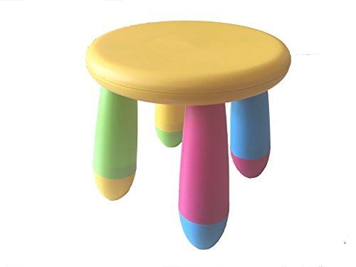 Sgabello per bambino, colori arcobaleno, adatto per uso in interni ed esterni