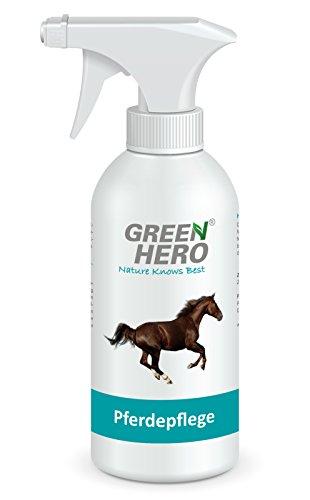 Green Hero Pferdepflege, 500 ml, Bei Sommerekzemen, Räude, Juckreiz, Entzündungen, Infektionen, Milben, Hefepilzen und - Asche Pet Behälter