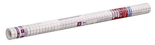 Viquel – Rouleau protège livre adhésif – Protège livre transparent enlevable et repositionnable – 5 mètres x 45 cm – Support quadrillé