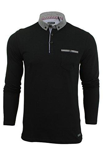 brave-soul-uomo-a-maniche-lunghe-polo-t-shirt-nuovo-lincoln-pique-cotone-con-colletto-top-cotone-her
