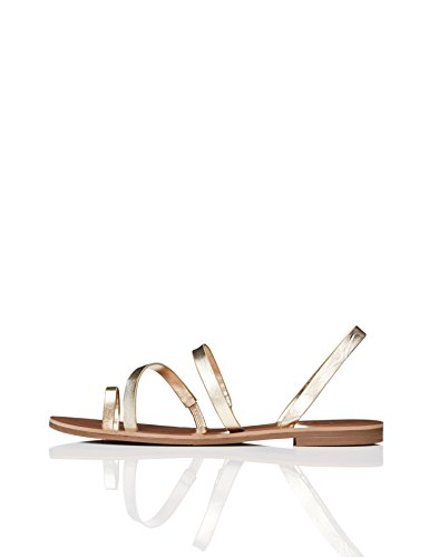Find. sandali alla schiava multi-strap donna, oro (gold), 39 eu