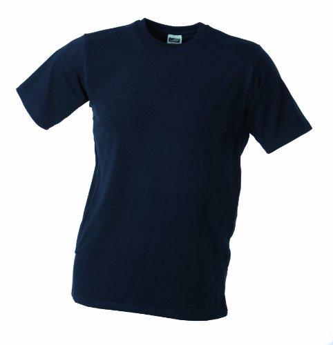 James & Nicholson Herren T-Shirt Elastic - T, Gr. 34 (Herstellergröße: S), Blau (navy) (Erwachsene S/s Navy T-shirt)