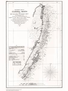 Historische Seekarte cpno29C: FL, Florida Riffe von Key Biscayne (, Eingemachtes Reef Jahr 1856von oceangrafix (Seekarten Florida)