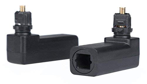 cgtime Digital Glasfaser Toslink rechten Winkel 90Grad Buchse zu 2,5mm Mini Stecker optischen Audio-Anschluss Adapter (Rechten Adapter Winkel Kabel Audio)