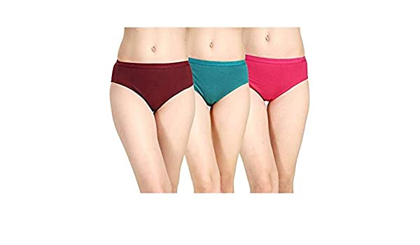 3f807c8a3fbe AJ FASHIONS Women's Hipster Multicolor Panty,Cotton Lycra (Pack of 3):  Amazon.in: Clothing & Accessories