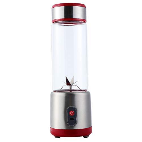LQ&XL 450ML Portable Mixeur des Fruits Rechargeable avec USB,Mini Blender pour Smoothie, Milk-Shake,Jus deFruits,Masque Facial,Blender Portable pour Sport et Voyage,Easy to Clean,Red