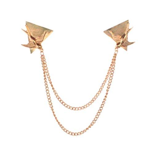 Winkel-Kragen-Hemd-Kragen-Pin-Kragen-Kette Brosche Dekoration, goldene Vogel