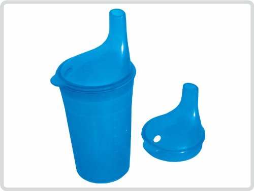 Trinkbecher-Set Tee und Brei, langes Mundstück, blau
