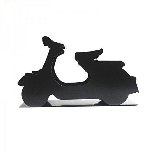 Preisvergleich Produktbild Vespa Briefhalter,  Zeitschriftenhalter in schwarz aus Metall mit original Vespa Logo