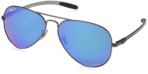 Ray-Ban Herren Sonnenbrille 0rb8317ch Matte Gunmetal/Greenmirbluepolaravi 58