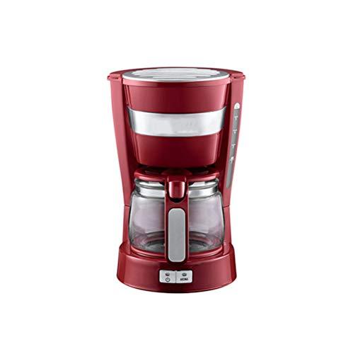 Macchina Per Caffe, Macchina Per Caffe Automatica E Macchina Caffe Espresso 650W, Autospegnimento, Macchina Per Caffè Elettrica 4 Tazze,Red