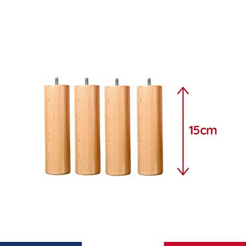 Pieds de sommier cyllindriques 15cm