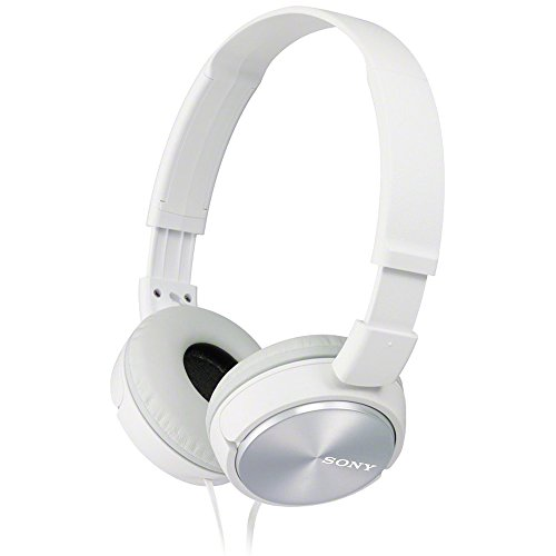 Sony MDRZX310 Foldable Headphones - Metallic White