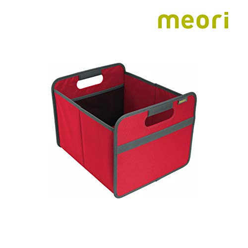 Faltbox Classic Medium Hibiskus Rot / Uni 32x37x27,5cm stabil abwischbar Polyester Premium Qualität Wohnen Einrichtung Möbel Sortierung Aufbewahren Verstauen
