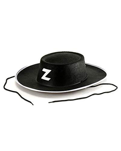 Schwarzer Zorro Hut - Deluxe Diego Kostüm