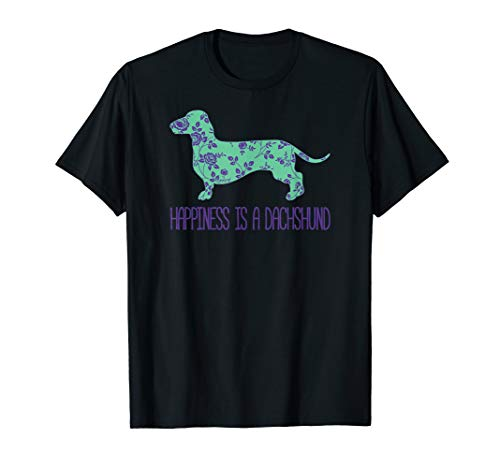 Wiener Dog T-shirt (Happiness Is A Dackel Funny Wiener Dog T-Shirt)