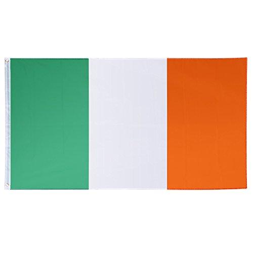 Die Irische Rugby-irland (Trixes Große Irische Nationalflagge mit Ringösen zum Aufhängen 90x150cm für Sportveranstaltungen und Nationale Feierlichkeiten)