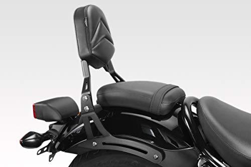 CMX500 Rebel 2017/19 - Sissy Bar (S-0795) - Respaldo de Acero - Fácil Instalación - Tornillería Incluido - Accesorios De Pretto Moto (DPM) - 100% Made in Italy