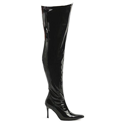 Higher-Heels Funtasma Overknee-Stiefel Lust-3000X Lack schwarz Gr. 38