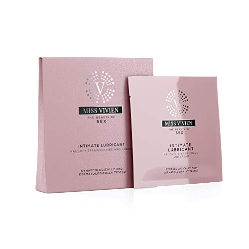 Miss Vivien Lubricante sabor fresas nata - 3 unidades