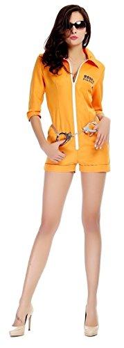 I-CURVES orange Häftling der erwachsenen Frauen verurteilen gefangener Abendkleid-Overallgröße 40-klein 42