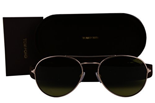 Tom Ford Unisex-Adult FT0551 Ace-02 Sonnenbrille w/Grüne Linse 28N TF551 FT551 / S TF551 / S Shiny Rose Gold groß