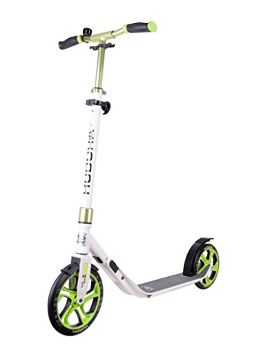 HUDORA Scooter Roller CLVR 250, Tret-Roller, Kickboard, Klapproller, weiß/grün, 14830